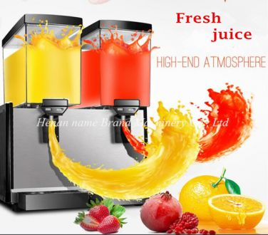 Double cylinder juice dispenser