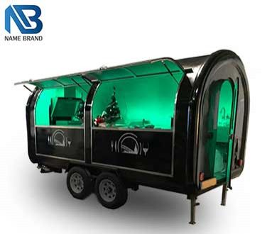 LED Colorful Light Food Trailer